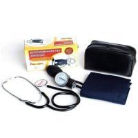 Kit Esfigmomanômetro + Estetoscópio com Fecho em Velcro - Premium